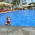 Zumindest Siena durfte sich im Pool des Hotel Viktoria erfrischen