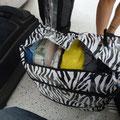 Ein Teil unseres Gepäcks wollte sich schon vorher verabschieden...