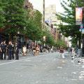New Yorks Strassen nach der Gayparade