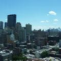 "Ausblick aus dem 27th Stock unseres Hotels ""Yotel"""
