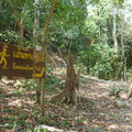 Wie an beinahe allen Stränden von Thailand gibts auch auf Koh rok einen Tsunami-Fluchtplan