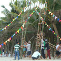 Vorbereitungen fürs Laternenfest von HoiAn (am Strand)