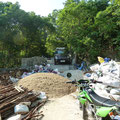 Der Stopp vor unserer Unterkunft in Koh Tao. Zuerst dachten wir es sei ein Erdrutsch passiert...