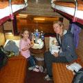Unser geräumiges 4er Schlafabteil im Livitrans Wagon