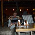 Chillen nach dem feinen Abendessen am Beach