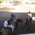 Alle auf den Pferden, das war ein Spaß!