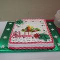 Torte bei der Weihnachtsfeier der Lehrer