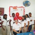 Auch in der Schule wurde der Geburtstag gefeiert