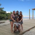 von links, Marie, Anna Theresa und Amanda