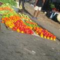 Gemüsestrand an der Straße