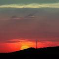 Posta sol entre molins Fotografia Andreu Gual