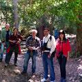 Angel, Pilar, Manel, Andreu i Jessica a la Font de la LLudriga (Capafonts)
