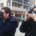 Gerard y Patricia, practicas del curso básico de fotografía digital. Foto: Andreu Gual