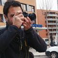 Josep Maria, en las practicas diurnas del curso basico de fotografia digital. Foto: Andreu Gual