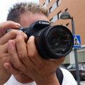 Clemente, concentración en el enfoque. Curso Básico de Fotografía Digital. Foto: Andreu Gual