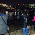 Durante los ejercicios de iniciación a la Fotografía Nocturna dentro del Curso Báscio de Fotografía Digital. Foto Andreu Gual