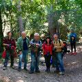 Pilar, Angel,  Manel,Jéssica i Óscar a la Font de la LLudriga (Capafonts)