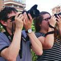 Ferran e Irene. Prácticas diurnas del curso básico de fotografía digital. Foto: Andreu Gual.