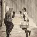 Book con Enric Roig ( el padri fa pelis) y Vanessa Carrera. Fotografia Andreu Gual