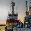 Polarsyssel atracado en Tarragona. Fotografia Andreu Gual