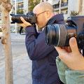 Curso basico de fotografia digital.  Tarragona, con Alessio y Ayala