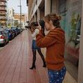 Curso basico de fotografia digital.  Tarragona, con Cayetana y Laura.