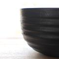黒漆摺り漆波器 材ハンノキ