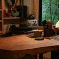 2011.6・・・このテーブルは桜の古木♪
