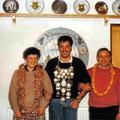 Jahr 1990: Schützenkönig Lippacher Georg, Wurstkönig: Brunner Karl-Heinz, Brezenkönigin: Brunner Ilona