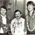 Jahr 1984: Schützenkönig Brunner Karl-Heinz, Wurstkönig: Gaiser Kurt jun., Brezenkönig: Weißacher Martin