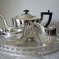 Versilberte Teeservice aus England ca 1890