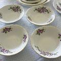 Vier vintage Porzellan Schalen aus England um 1960