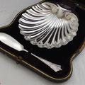 Sterling Silber Butterschale um 1900 aus England