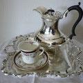 Kaffeekanne versilbert ca 1900