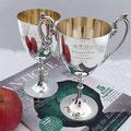 Zwei antike versilberte Pokale