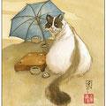 Go sous ombrelle bleue ( en vente en galerie )