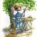 La récolte du tilleul ( VENDU )