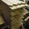 Façon de coupes d'onglet sur petits bois