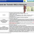 Stand der Technik 1842 in Hannover Teil 1