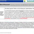 Münchhausen wird im Prozess erwähnt