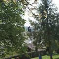 Blick vom Balkon Kuschlmansarde mit Glücksbringer