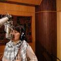 いよいよ歌入れ! Cristovãoと私のデュエット一発録音です!!!キンチョ〜〜〜^^;