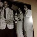 ラジオ・ナショナルのロビーには、ラジオ全盛期からの数々の出演アーティストの写真が飾られています。その中に若かりし頃のジョルジーニョを発見!うわぁ...感動!