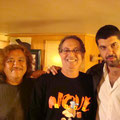 Jun , Celsinho Silva (Perc.)e  Eduardo Neves (Tenor Sax.)