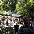お昼からは皆で集まってバンダォン(大合奏)! 手前にCelsinho、奥にはJoão Lyraさんが写ってます♬
