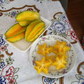 Carambola(スターフルーツ)、初めて食べました!
