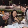 ライヴを観に来てくれたヴォーカリストのカレンちゃんと、お友達のダヴィさん! お夕飯をご一緒しました!
