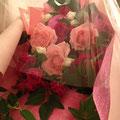 お客様から素敵なお花を頂きました...! ありがとうございました!