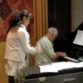 大ピアニスト Cristovão Bastos さんとデュエット打ち合わせ中。