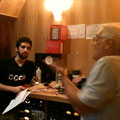 サックスのEduの息子さんでドラマーのAntonio Neves(左)さんとベースのDininhoさん(右)!